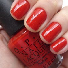 Short red nails are always fun for #NYFW. My favorite? Big Apple Red by OPI.