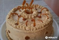 Hungarian Cake, Hungarian Recipes, Cold Desserts, Sweets Recipes, Fall Crafts, Healthy Cooking, Food And Drink, Birthday Cake, Pie
