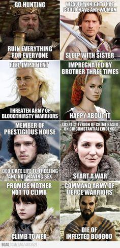 Game Of thrones Logic... Poor Khal's booboo :[