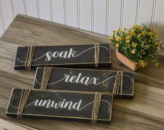 Soak, Relax, Unwind Distressed Trio