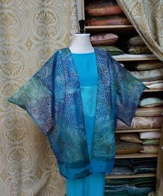 Silk oganza Marbled hapi jacket - we are having a huge thinning out sale to make room for a new project! 50% off jackets this week.