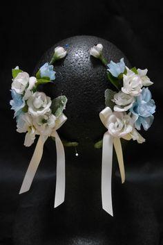 Pale blue floral headdress. #blue #white #ballet #headdress #costume #tutu