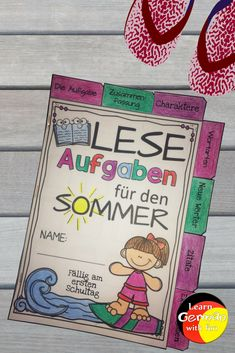 Sommerferien Multicultural Classroom, German Resources, Learn German, Reading Skills, Projects To Try, Language, Education, Learning, Fun