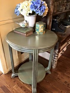 Basil and Van Dyke Brown Side Table | General Finishes Design Center