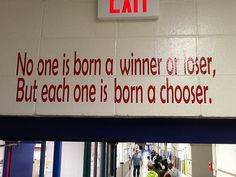 Love the sayings over each doorway.