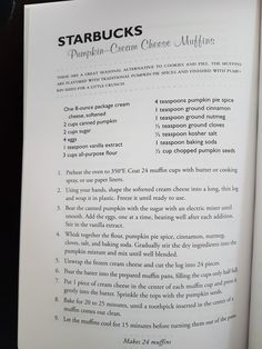 Used c honey and c sugar, and c molasses. Also added orange and almond extract. Just Desserts, Dessert Recipes, Autumn Desserts, Pumpkin Cheesecake Muffins, Pumpkin Cream Cheese Muffins, Starbucks Recipes, Starbucks Muffin Recipe, Biscotti, Copykat Recipes