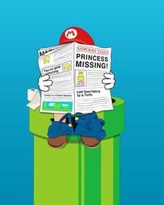 Princess Missing! #Mario #Videogames