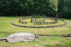 Stone circle at Sarmizegetusa Regia (also Sarmisegetusa, Sarmisegethusa, Sarmisegethuza, Ζαρμιζεγεθούσα (Zarmizegethousa), Ζερμιζεγεθούση (Zermizegethousy)), which was the capital and the most important military, religious, and political center of the Dacians.