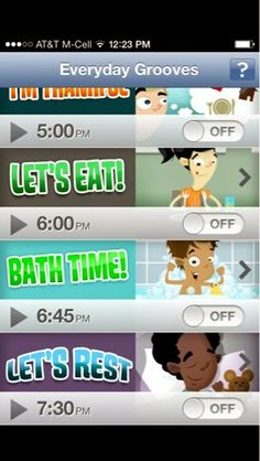Free Music and Picture Schedule App - pinned by @PediaStaff – Please Visit  ht.ly/63sNt for all our pediatric therapy pins