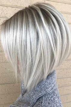 Platinum Stacked Bob Haircut by melva