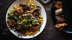 Chipotle caramelised chicken with jalapeno jam, corn and manchego cheese