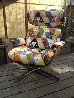 Eames replica refresh: Not loving the fabric, but it seems like this might be easier than I thought?