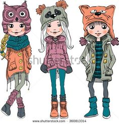 Cute Winter Vectores en stock y Arte vectorial | Shutterstock