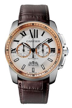 7da2f930898 Cartier Calibre Chronograph Watch - W7100043. Round steel case (42mm  diameter x 12.7mm