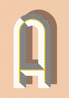 Ferm Living Shop — Bau Deco Letter Posters This would make a cool quilt pattern out of your monogram.love the lettering style Typography Letters, Typography Poster, Graphic Design Typography, Lettering Design, Graphic Design Illustration, Hand Lettering, Japanese Typography, Art Deco Typography, Art Deco Logo
