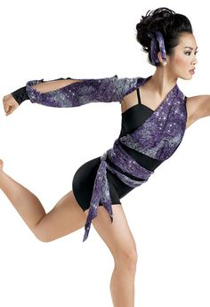 Sequin Lace Wrapped Biketard -Weissman Costumes