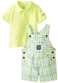 Calvin Klein Baby-Boys Infant Polo Top with Plaided Shortall, Green, 12 Months  Adorable 1st birthday suit for our nephew  http://www.amazon.com/dp/B00EOIE2NK