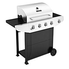 Master Forge�Black and Stainless Steel 4-Burner (40,000-BTU) Liquid Propane Gas Grill with Side Burner, $200. Lowes
