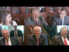 This is great! However, watching those ppl talk abt Trump, was very disturbing & stomach turning! -- Chuck Schumer HILARIOUSLY MOCKS Donald Trump & His Cabinet Puppets!