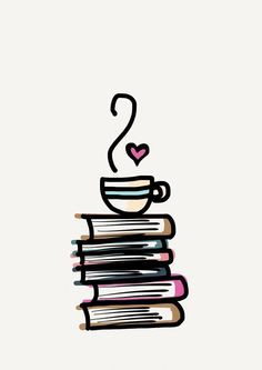 Avid readers would agree that between the pages of a book is a lovely place to be. If you identify yourself as a bookworm you may enjoy this iPhone Android cell phone wallpaper. Coffee on stack of books Sketches, Sketch Book, Wallpaper, Drawings, Doodles, Art, Artsy, Cute Drawings, Book Art