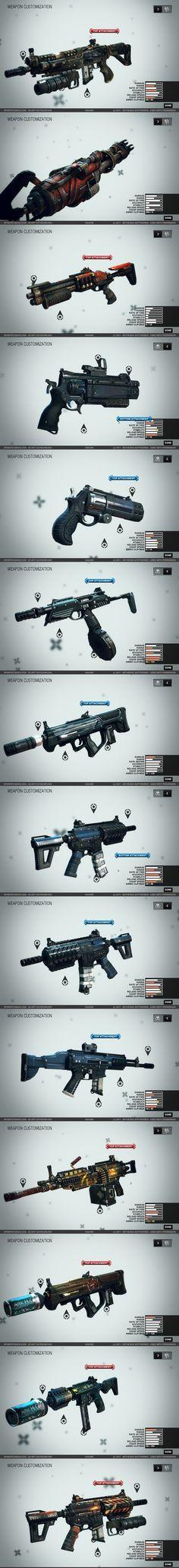 游戏素材 资源 图标ICON 机械风格 武器枪械设定参考 战争原画