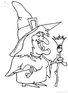 I have download Witch Smile Happy Coloring Page