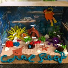 Discover recipes, home ideas, style inspiration and other ideas to try. Coral Reef Biome, Coral Reef Craft, Coral Reef Color, Coral Reef Ecosystem, Coral Reefs, Ocean Diorama, Diorama Kids, School Projects, Projects For Kids