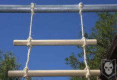 DIY Rope Ladder. Awesome - my girl is a climber! Got the perfect spot for this in the back yard.