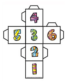 Kość 1-6. Darmowy plik do pobrania. Free downloads. Free Downloads, Math, Logos, Early Education, Bricolage, Math Resources, Logo, Mathematics