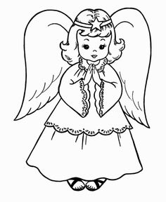 Angel coloring pages are perfect for children from all age groups