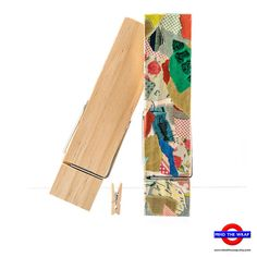 One - 6 Wooden Clothespin - Ideal size for many Craft Projects Sold individually.  Suitable for an array of fun projects, these over-sized wooden