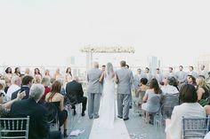 Atlanta skyline ceremony | Our Labor of Love #wedding