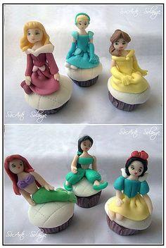 Disney Princess Cupcakes- too cute!