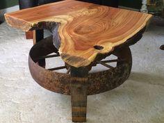 Reclaimed Rustics: TREE SLAB COFFEE TABLE