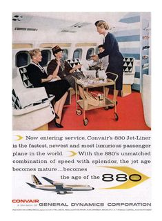 Vintage Airline Advertising Convair 880 | ✈ concord⁹⁷⁷ | Flickr