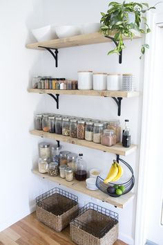 kitchen shelves ideas cabinet manufacturers list open shelving project h o m e 40 diy for small spaces if you make the ideal use of space