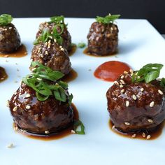 Spicy Teriyaki & Sriracha Glazed Venison Meatballs. Recipes from our very own field Opt. chef From Field to Plate!