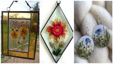 Aprende cómo encapsular flores deshidratadas y hacer joyería ~ Haz Manualidades Art Techniques, Terrarium, Decoupage, Decorative Plates, Candles, Painting, Resin Jewelry, Diana, Hobbies