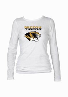 Mizzou Women's Long Sleeve White Shirt