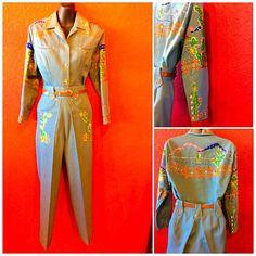 Reserved Nudies Westernwear ladies Pants Suit Embroidered