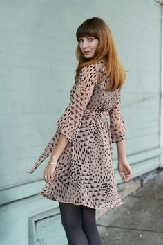 Print perfect. Mousevoxvintage models The Alcazar Dress @ModCloth stunningly.