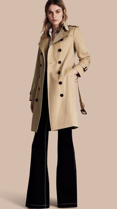 The Sandringham – Long Heritage Trench Coat Honey | Burberry