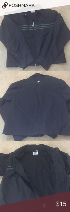 """Adidas Jacket Adidas jacket washed never worn. Lightweight. Measures from shoulder down 21"""" chest flat 16"""". Adidas Jackets & Coats"""
