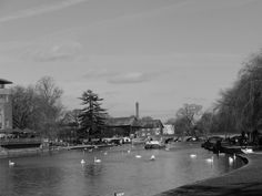 Taken by ginge on the 13 /2/17 stratford upon avon River Avon I've changed the photo to black and white