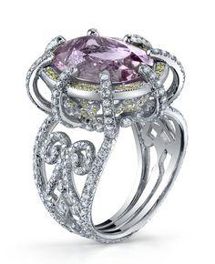 Platinum and pink diamond