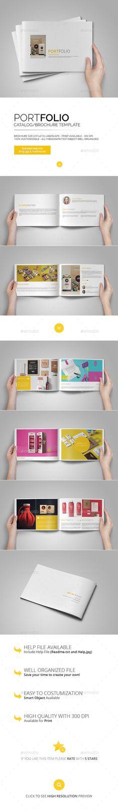 Creative Portfolio Brochure Template #design Download: http://graphicriver.net/item/creative-portfolio-brochure/12957450?ref=ksioks