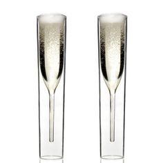 Inside Out Champagne Glasses -- cool.