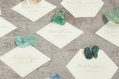 Simple and elegant geometric paper escort cards