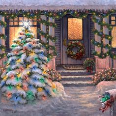 'Welcome to Christmas' by artist Janet Kruskamp