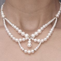 Love the shape!! Probably use chains with dangling pearls instead